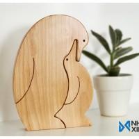 Mẹ và con_Chim cánh cụt